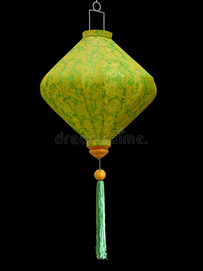 grön japansk lampshade arkivfoto