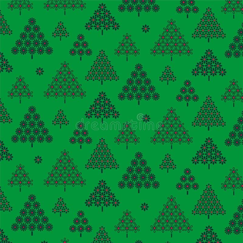Grön julgranmodell stock illustrationer