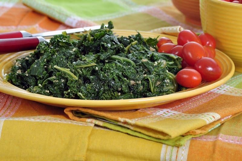 grön kale för smaragd arkivfoto