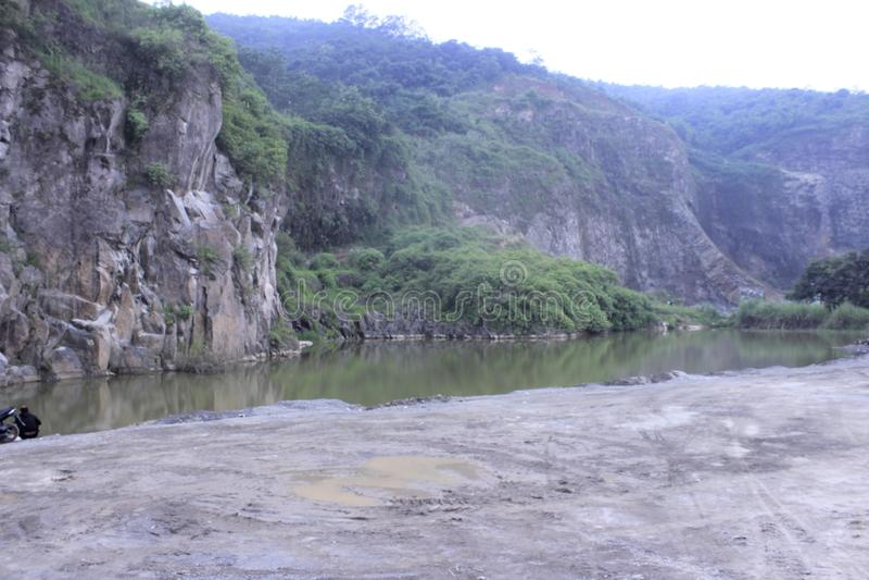 Grön kanjon royaltyfria foton