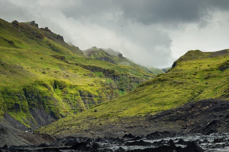 Grön kanjon fotografering för bildbyråer