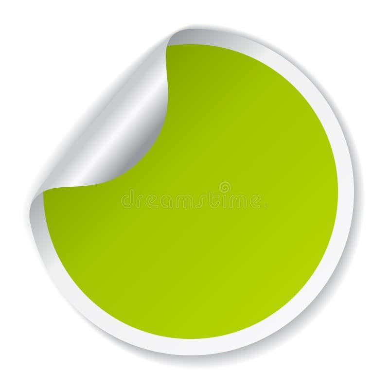 Grön klistermärke för vektor stock illustrationer