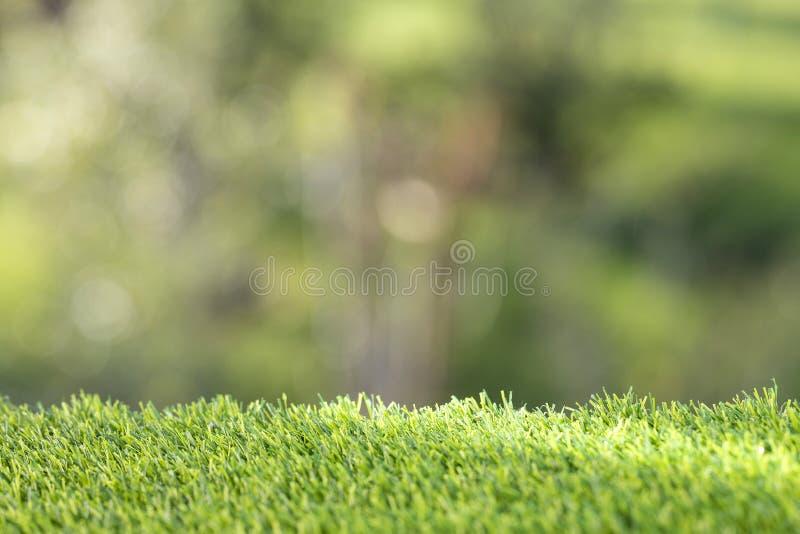 Gr?n konstgjord gr?sbakgrund eller textur - textutrymme fotografering för bildbyråer