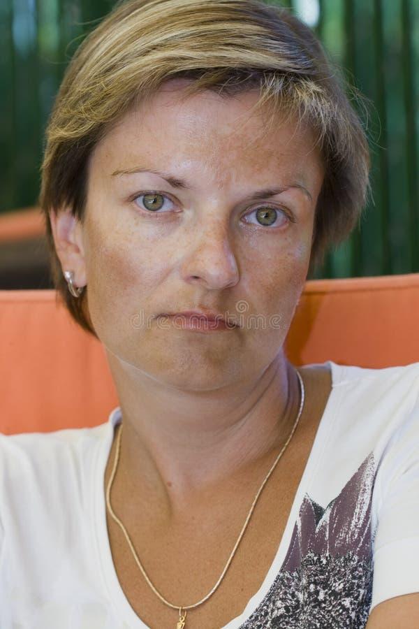 grön kvinna för ögon arkivfoton