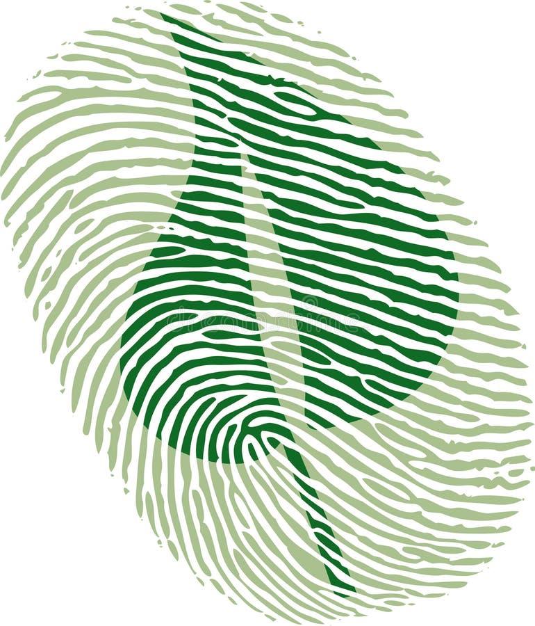 grön leaf för fingeravtryck royaltyfria foton