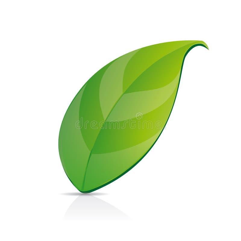 grön leaftea royaltyfri illustrationer