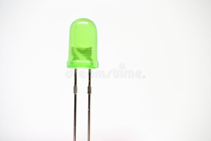 Grön LED royaltyfri fotografi