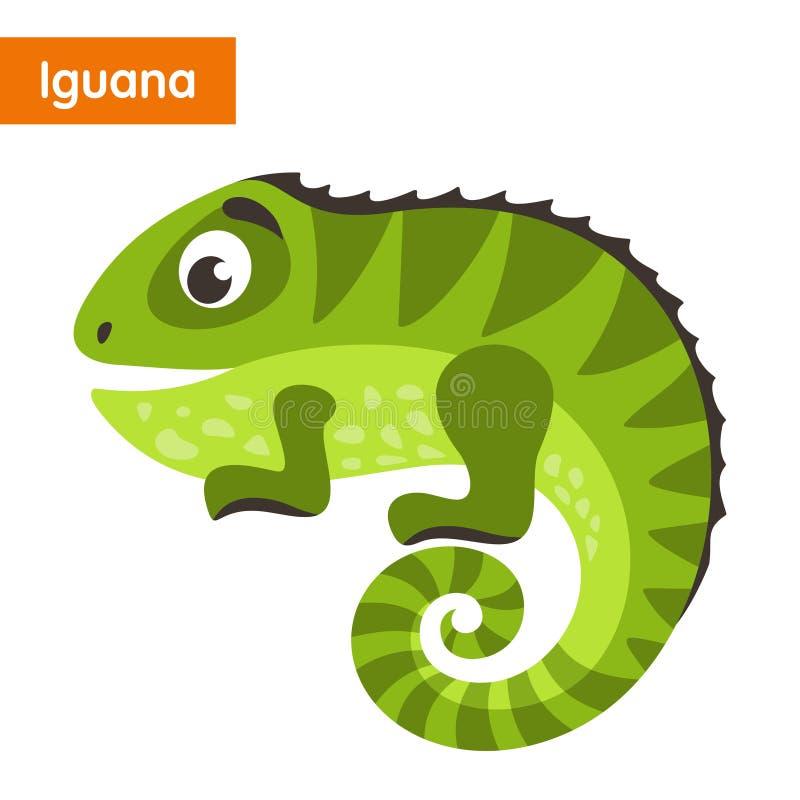 grön leguan stock illustrationer