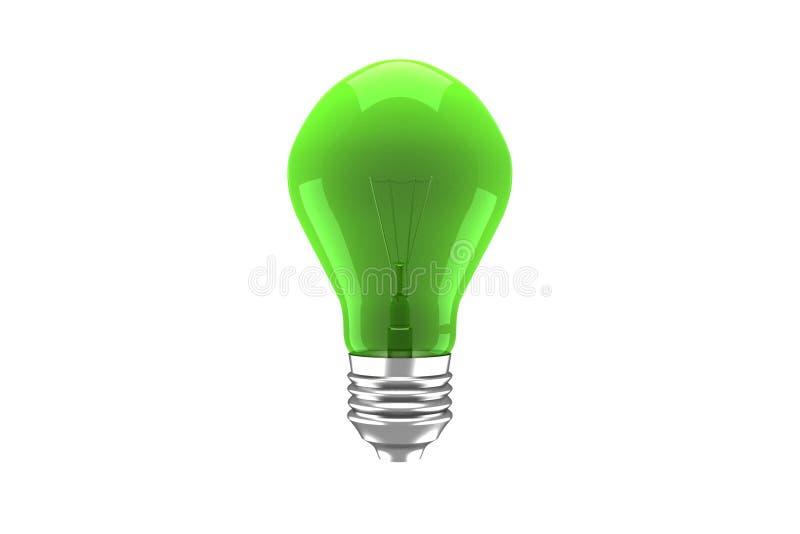 grön lightbulb stock illustrationer