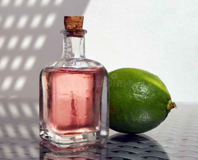 Grön limefrukt och förkylninglemonad arkivfoto