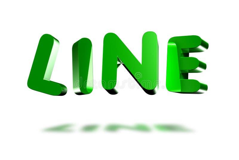 Grön linje 3D vektor illustrationer