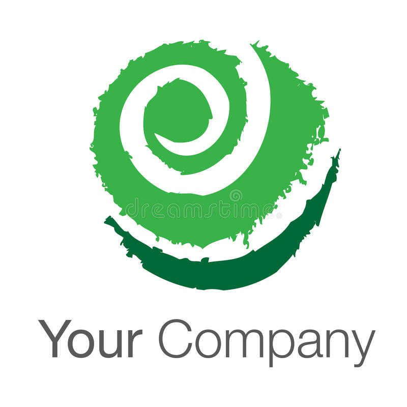 grön logo för jordklot stock illustrationer