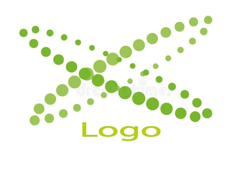 Grön logo och illustration royaltyfria bilder
