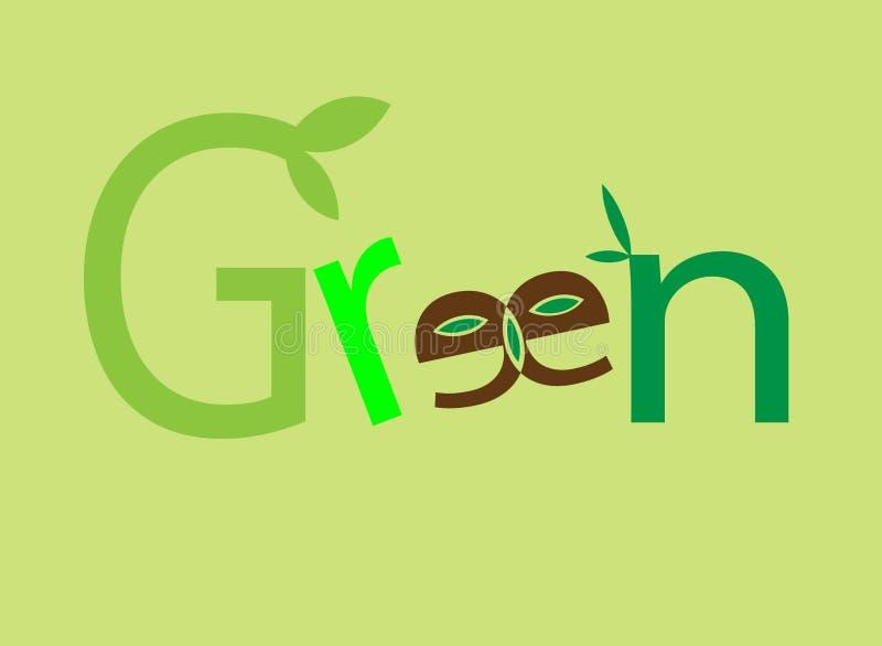 Grön logo och vektor fotografering för bildbyråer