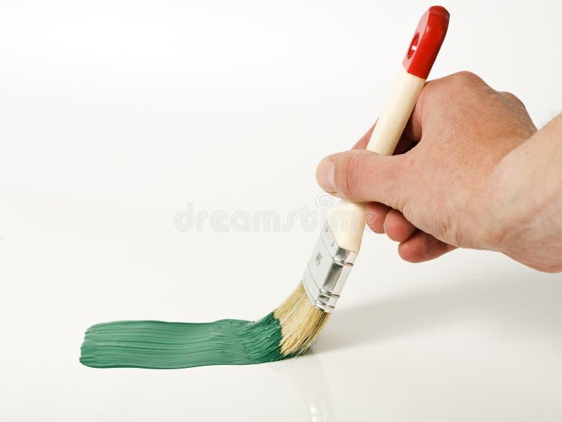 grön målning royaltyfria bilder