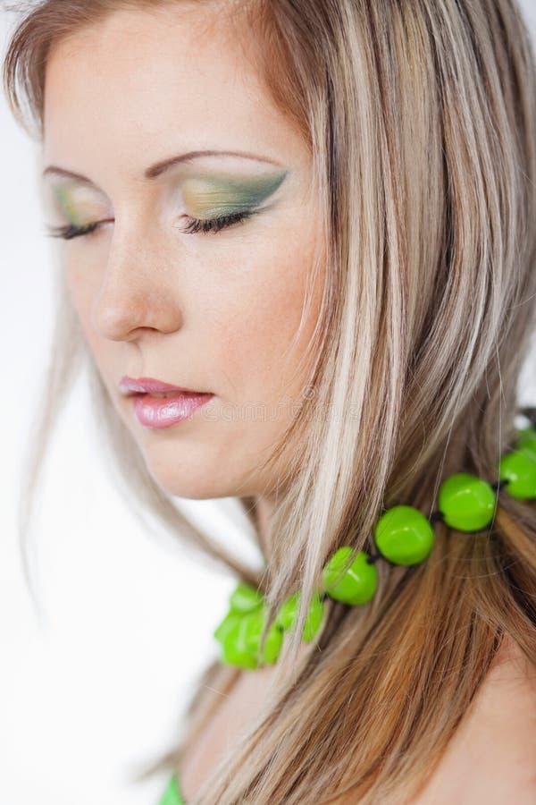grön makeup royaltyfri bild