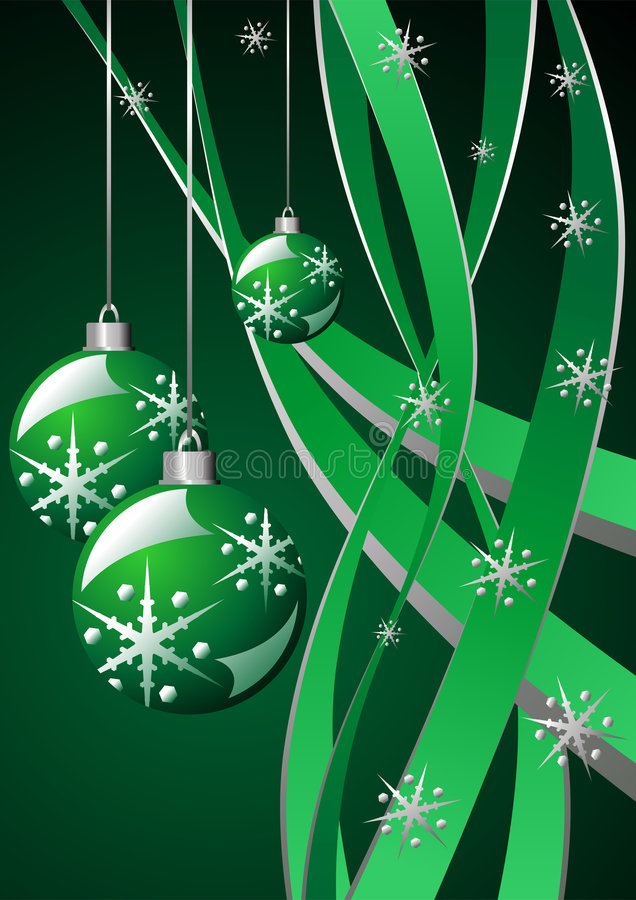 grön mall för jul vektor illustrationer