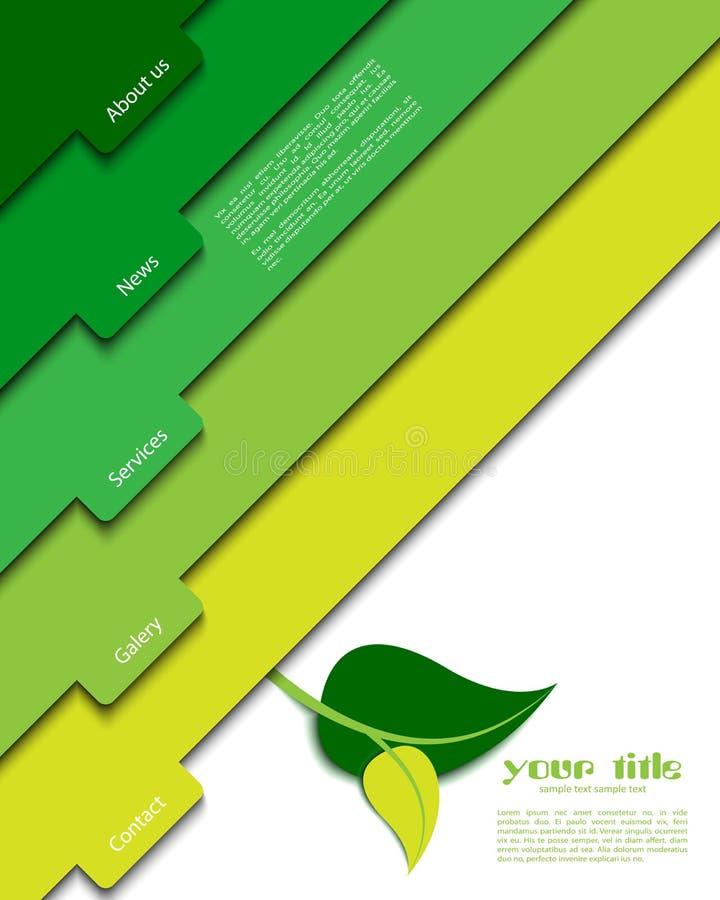 grön mallwebsite royaltyfri foto