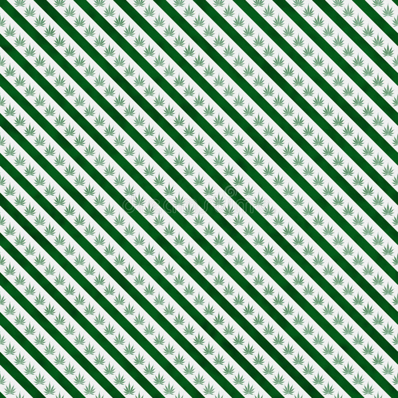 Grön marijuanablad- och för bandmodellrepetition bakgrund arkivbilder