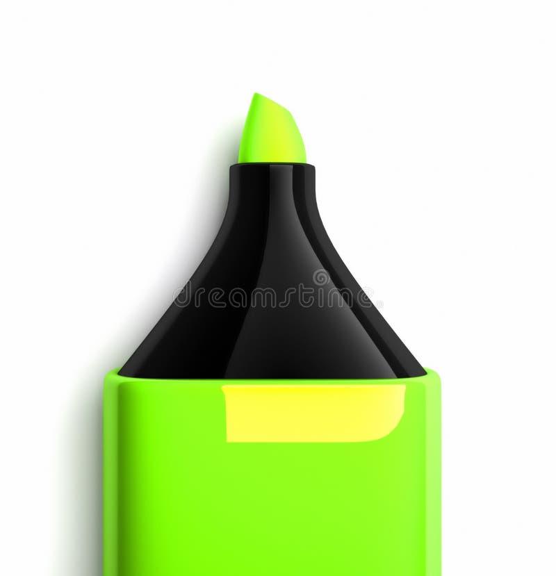 grön markör stock illustrationer