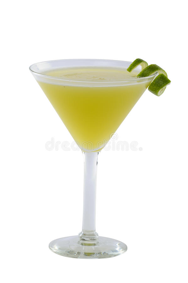 Grön Martini coctail royaltyfria bilder
