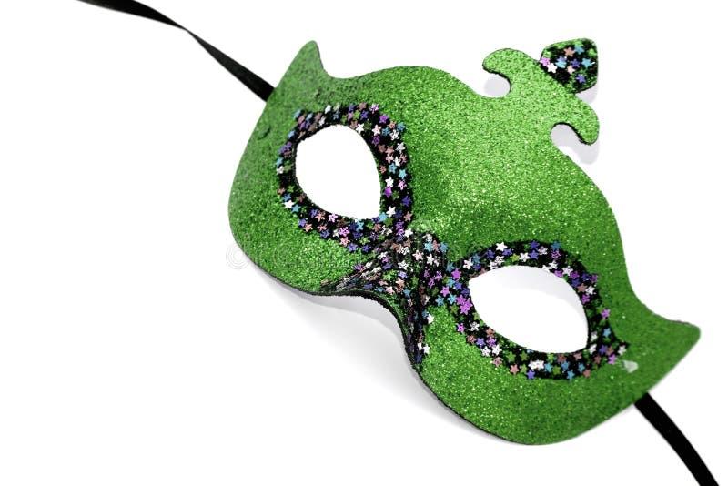 grön maskering för karneval royaltyfria bilder
