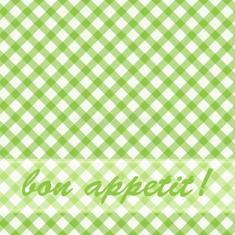 grön modellpicknick royaltyfri illustrationer