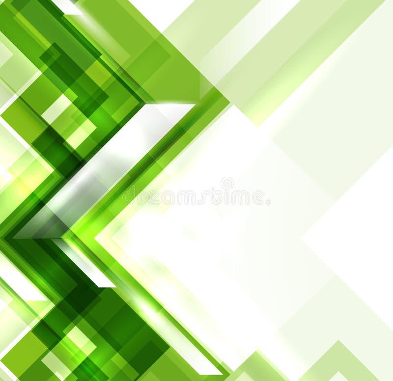 Grön modern geometrisk absractbakgrund royaltyfri illustrationer