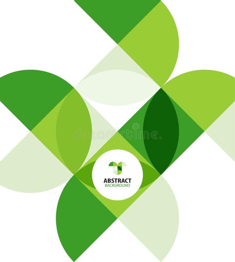 Grön modern geometrisk abstrakt bakgrund royaltyfri illustrationer