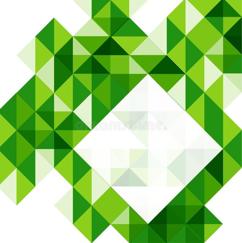 Grön modern mall för geometrisk design royaltyfri illustrationer