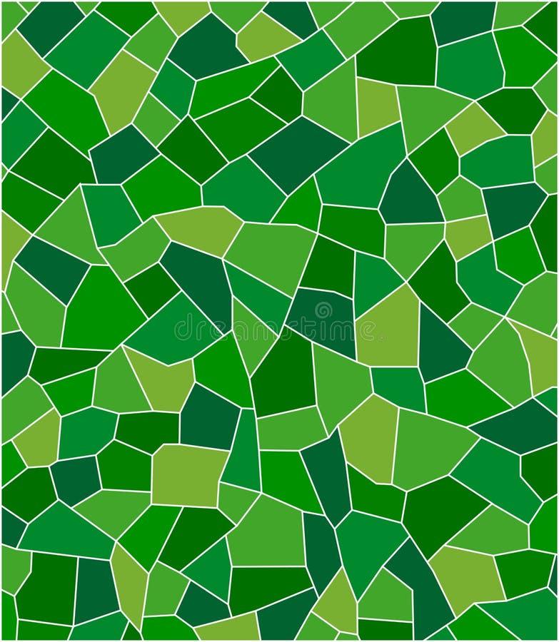 Grön mosaik vektor illustrationer
