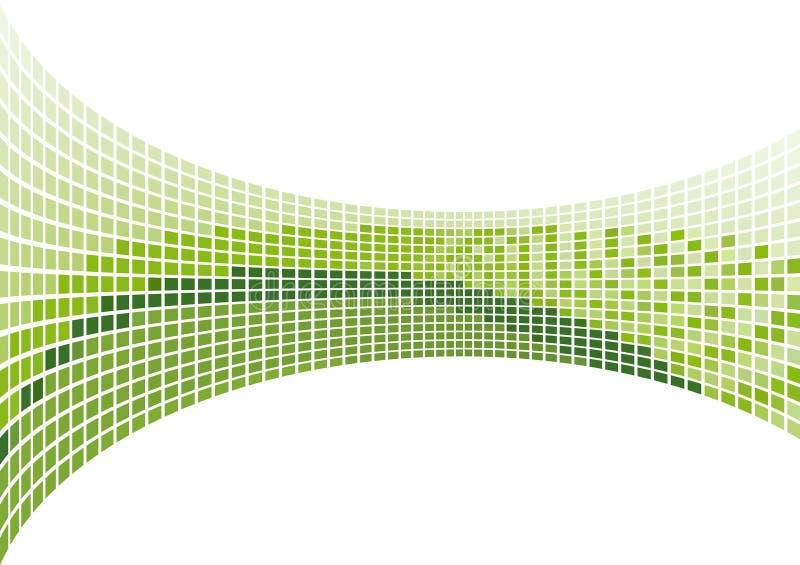 grön mosaik royaltyfri illustrationer
