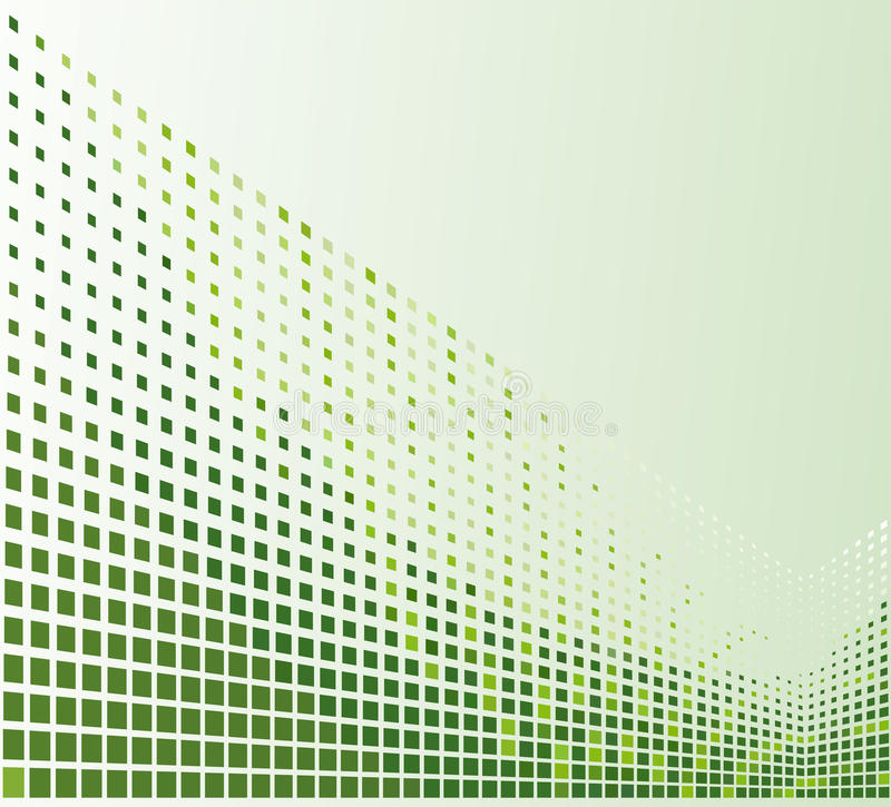 grön mosaik stock illustrationer