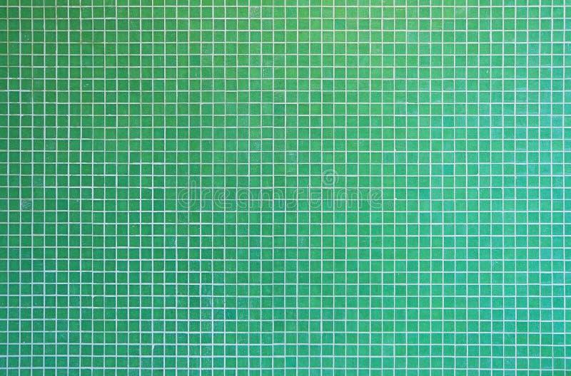 grön mosaiktexturtegelplatta arkivbild