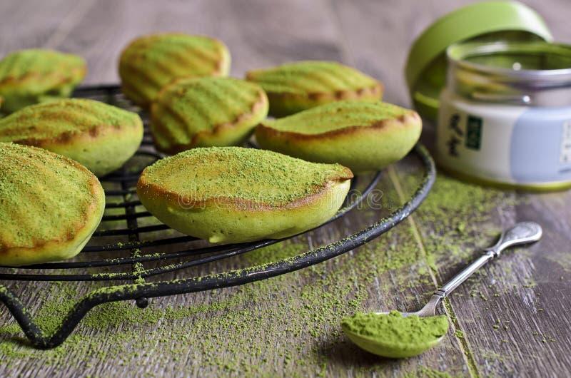 Grön muffin royaltyfri fotografi