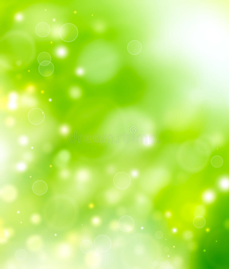 Grön naturlig bokehbakgrund vektor illustrationer