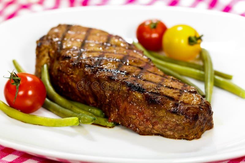grön ny steakremsa york för bönor fotografering för bildbyråer