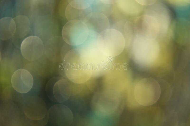 Grön och blå ljus Blur arkivfoto