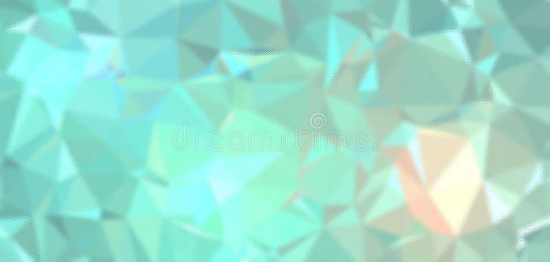Grön och orange pastell till och med mycket liten Glass bakgrundsillustration royaltyfri illustrationer