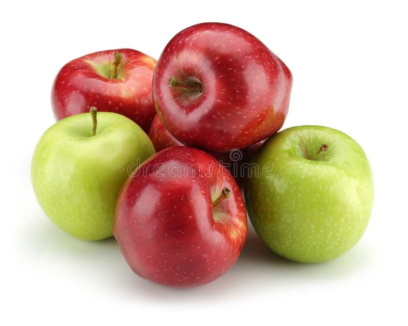 Grön och röd Apple grupp arkivfoton