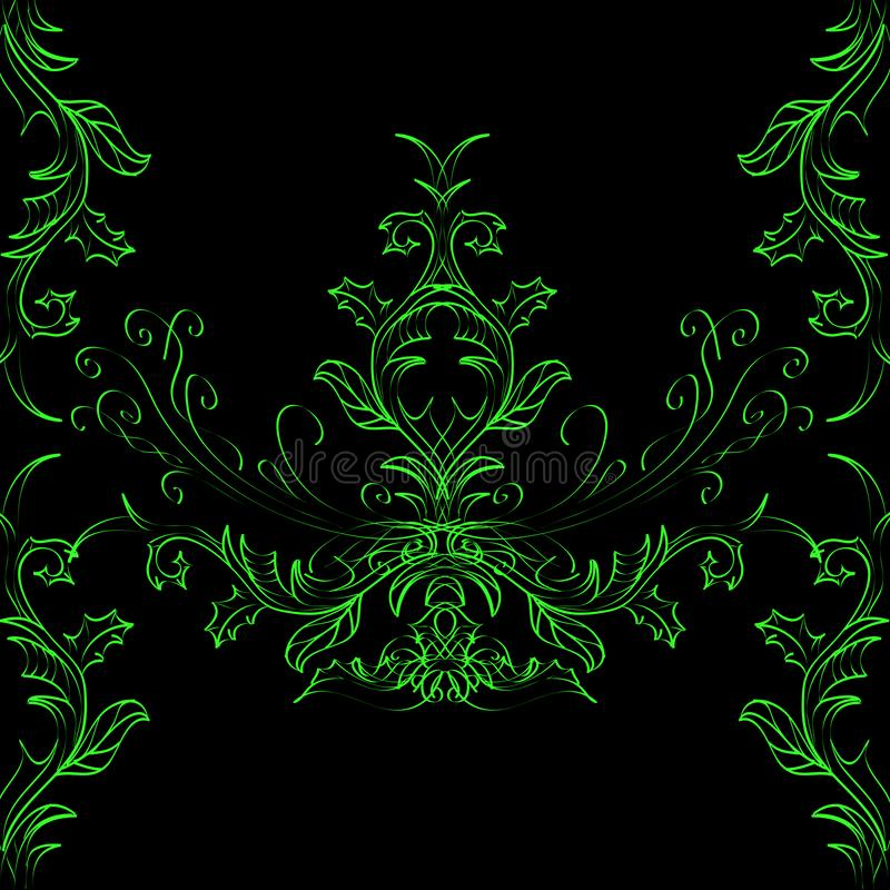 Grön och svart abstrakt ljus bakgrund vektor illustrationer