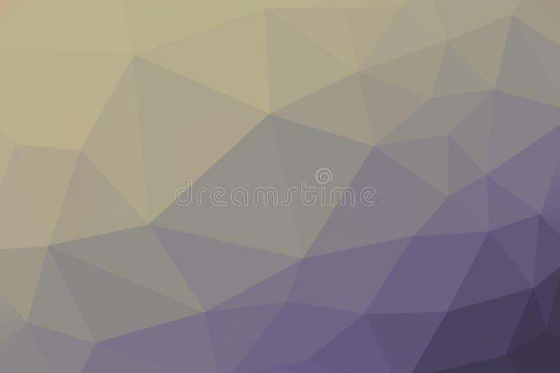Grön och violett färgad lutningtriangelbakgrund, abstrakt polygonmodell royaltyfri foto