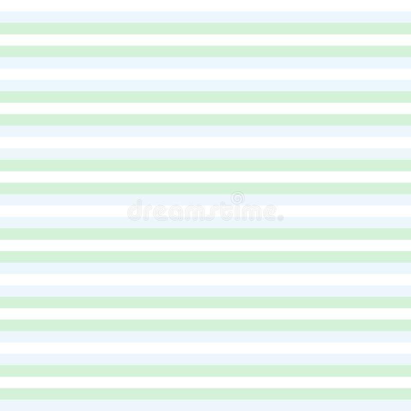 Grön och vit randig bacground, sömlös modell för färgrika band - vektor vektor illustrationer