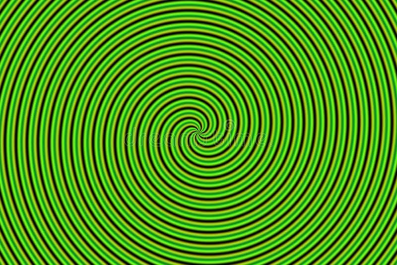 grön optisk hypnoillusion vektor illustrationer