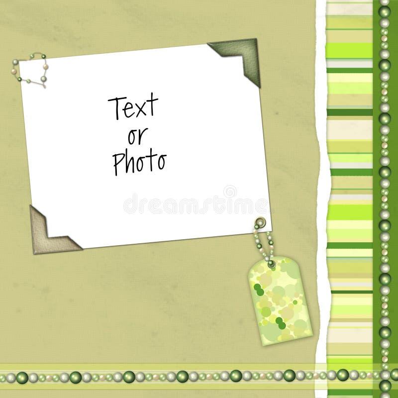 grön orienteringsscrapbook fotografering för bildbyråer
