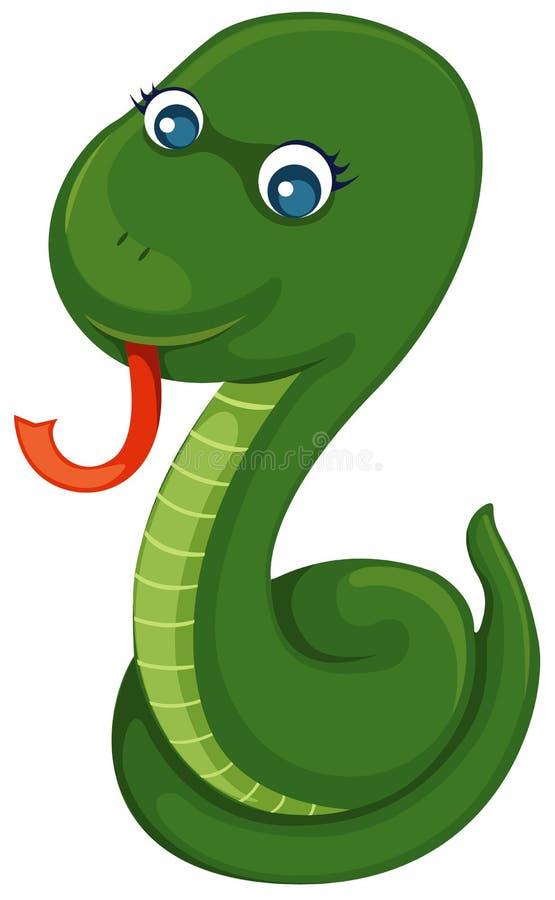 grön orm stock illustrationer