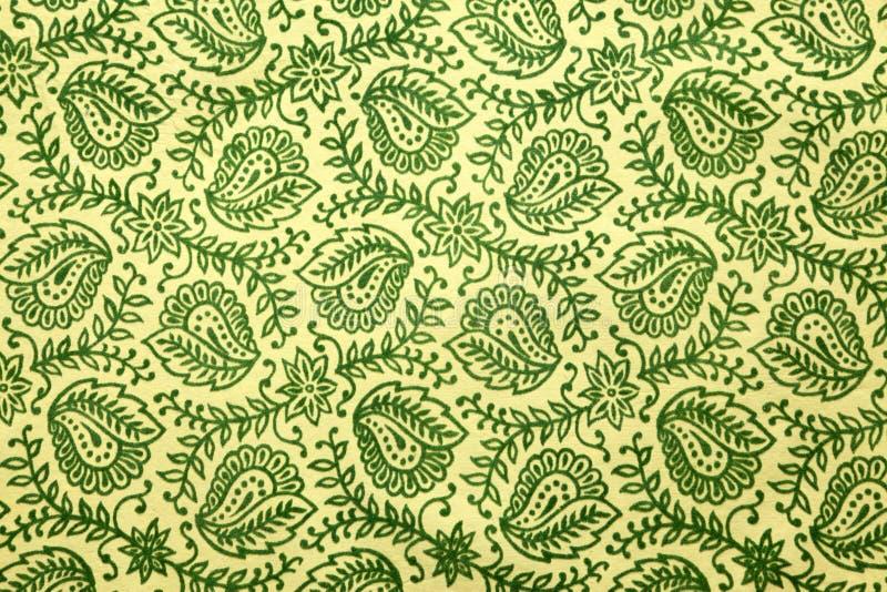 grön paisley modell royaltyfria bilder