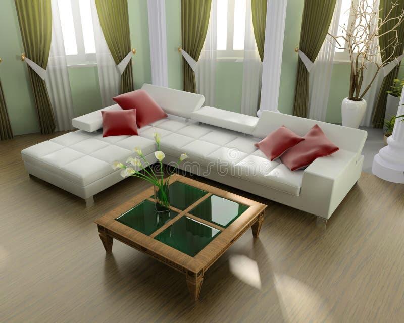 grön penthouse royaltyfri illustrationer