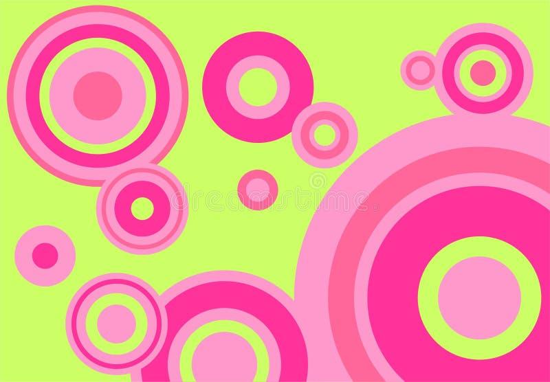 grön pink för bakgrund vektor illustrationer