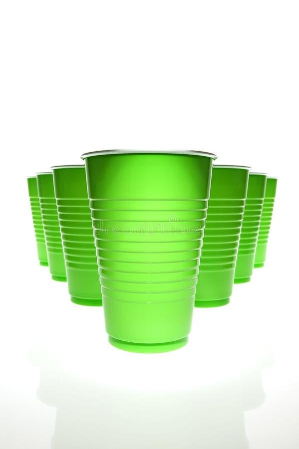 grön plast- för koppar arkivfoto